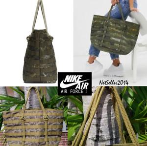 🔥🆕👌UNISEX Nike AF-1 Tote Bag Shoulder Bag Lifestyle Casual Camo BA6346-368