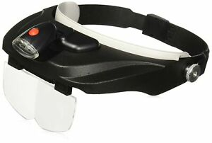 Carson Optical Pro Series MagniVisor Deluxe Head-Worn LED Lighted Magnifier w...