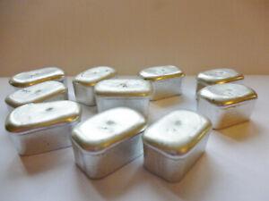 Miniature Pewter Loaf Bar Ingot ~ Low Melting Point ~ For Easy Casting ~ Crafts