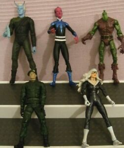 """ACTION (RARE) FIGURES ** FIVE ASSORTED LARGE ACTION FIGURES ** 6/7"""" TALL - USED"""