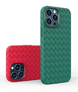 BV weaving Soft TPU Back Case For iPhone 11 12 13 Pro Max Mini XS 7 8 Plus Cover
