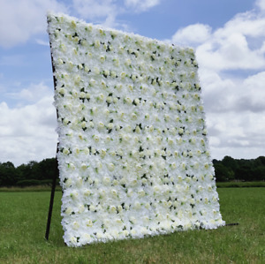 BEAUTIFUL White & Cream Flower Wall *HIRE DEPOSIT ONLY* Sussex, Surrey & Kent