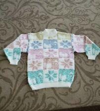 Vintage Spunky Sweater white winter checkered Estimated Medium Large