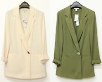 TOPSHOP New Womens Ivory & Khaki Jacket Blazer Sizes 6 to 16
