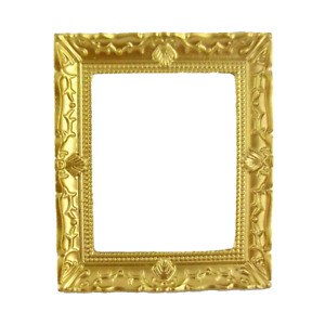 Dolls House Empty Gold Picture Painting Frame Miniature 1:12 Scale Accessory