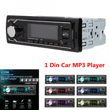 1 Din Car Bluetooth Stereo Audio 2USB FM AUX Input Radio MP3 Multimedia Player