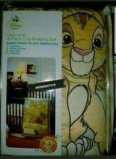 NEW DISNEY BABY THE LION KING SIMBA NALA  4 PC CRIB BEDDING SET.