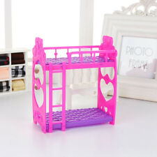 EP_ Doll House Miniature Plastic Bed Double-deck Furniture for Barbie Doll Eyefu