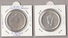 GRAN BRETAGNA 1 RUPEE COLONIA  SILVER ARGENTO BRITISH INDIA GIORGIO VI 1945