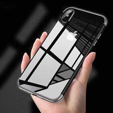 Funda carcasa iPhone X Hybrid transparente y felxible proteccion camara colores