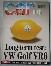 CAR 04/1994 featuring VW Golf & Corrado VR6, Aston Martin Vantage, Ferrari, Ford