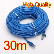30M 100ft CAT5E CAT5 RJ45 Ethernet Internet Network Patch Lan Sync Cable Cord