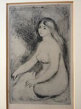 """Pierre-Auguste Renoir """"Baigneuse Assise"""" Art Print 1897 Etching Limited Edition"""