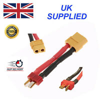 XT60 female to Deans T-Plug male connector lead adaptor/wire/cable 30mm RC LiPo