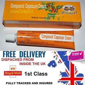 1 x TUBE  Capsaicin Hot  Cream Pain Arthritis Capsicum IN STOCK UK SELLER!!
