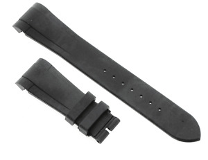 Rubber B T800 Black Rubber 22mm Watch Strap for a Tudor Heritage Black Bay 41mm