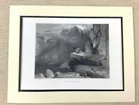 Edwin Landseer Antico Incisione Stampa Aquile Nido Scozzese Highlands Pittura