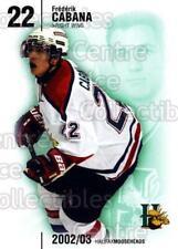 2002-03 Halifax Mooseheads #5 Frederik Cabana