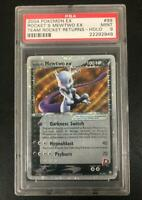 Pokemon TCG : Rockets Mewtwo Ex PSA 9 - Ex Team Rocket Returns - English