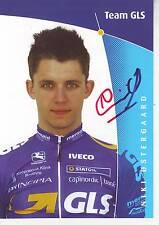 CYCLISME carte cycliste NIKI OSTERGAARD équipe GLS signée