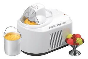 NEMOX Eismaschine Gelato Chef 2200 I-green weiß Eisbereiter Sommer WOW