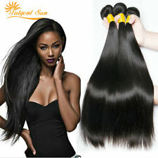 Brazilian 100 Virgin Hair Straight Wave Human Hair 3 Bundles 300g Extensions