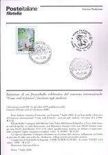 ITALIA 2000 COME VEDI IL FUTURO  BOLLETTINO COMPLETO DI FRANCOBOLLI FDC