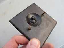 """Vintage Bakelite Light Switch Square Plate Architectural Antique Old """"Rolls"""""""