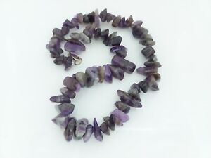 Lovely Chunky Beaded Amethyst Chips Stone Necklace