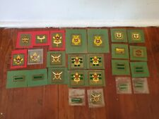 Vintage 1960s BOY SCOUT RANK and POSITION PATCHES. Lot of 25, Some Doubles