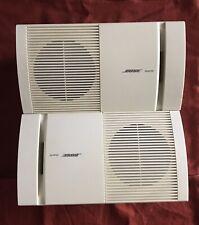 Two BOSE Model 100 - White Surround Speakers Bookshelf or Wall Mount Speakers