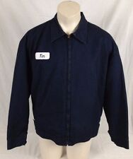 Navy Blue Red Kap Work Mechanic Jacket