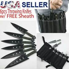 6PC Throwing Knifes Ninja Naruto Tactical Combat Hunting Kunai Set w Sheath Case