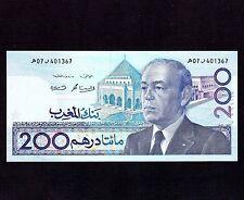 Morocco, 200 Dirhams 1987(1991), P-66b, AU-UNC * King Hassan *