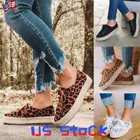 Women Platform Espadrilles Print Sneaker Casual Girls Flat Shoes Tie Up Comfy US