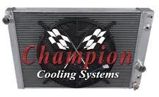 "2 Row QR Champion Radiator W/ 16"" Fan fits 1989 - 1996 Chevrolet Corvette"
