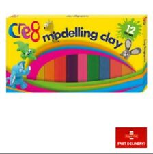 12 Rainbow Strips Multi-coloured Modelling Clay  - Kit Soft Dough Moulding Putty