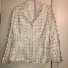 Women's Ivory Suit by Collections Le Suit, Size 10