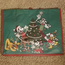 Disney Parks 2019 Mickey & Friends Christmas Holiday Tote Bag Reusable Green Red