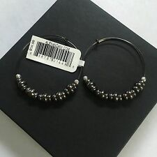 """ALEX AND ANI """"SMALL NILE HOOP EARRINGS"""" IN HEMATITE! NWT! RARE AND BRAND NEW!"""