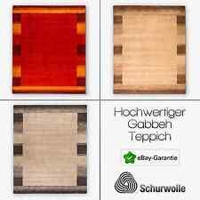 Hochwertiger Gabbeh Teppich Alle Maßen Orange Silber Beige Handgewebt Schurwolle