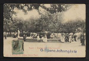 ITALY 881-NAPOLI - Fontana nella Villa Comunale (Inviato a Cuba nel 1904)