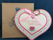 Avon Overstock Valentines Day Wood Heart Hanging Wall Plaque Home Decor 1996 NIB