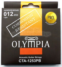 Olympia CTA-1253 Acoustic Guitar Strings Corrosion Resistant - Light Gauge