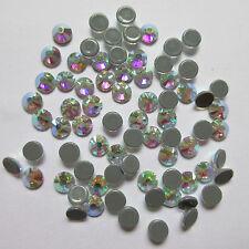 Crystal Glass Flatback Rhinestones Stones White & AB Nail art Clothes Decoration