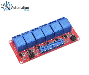 12V Relay Module 6 Channel for Arduino (High and low trigger)