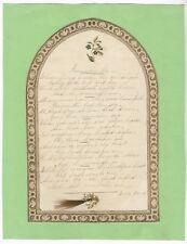 Antique Victorian MANUSCRIPT POEM Mourning Remembrance HUMAN HAIR Handwritten