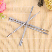 AU_ FT- 4 Pcs Stainless Steel Nail Cuticle Pusher Remover Manicure Pedicure Tool