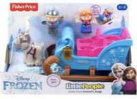 Fisher- Price Disney Frozen Little People Kristoff Sleigh Anna Sven Gift Girl