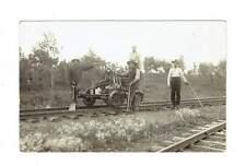 Railroad Workers 1910's. Hand Cranked Jigger. RPPC Postcard.